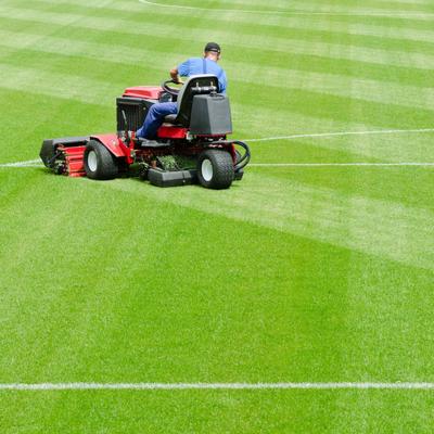 mowing sports field